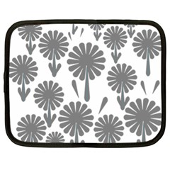 Zappwaits Flowers Black Netbook Case (xl) by zappwaits