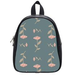 Florets In Grey School Bag (small) by WensdaiAddamns
