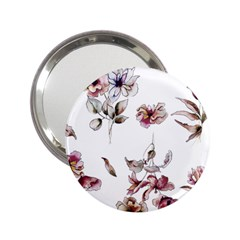 Purple Flowers Bring Cold Showers 2 25  Handbag Mirrors by WensdaiAmbrose