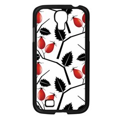 Rose Hip Pattern Branches Autumn Samsung Galaxy S4 I9500/ I9505 Case (black)