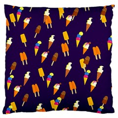 Seamless Ice Cream Large Cushion Case (one Side) by Jojostore