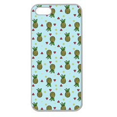 Pineapple Watermelon Fruit Lime Apple Seamless Iphone 5 Case (clear) by Mariart