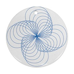 Spirograph Pattern Drawing Ornament (round)