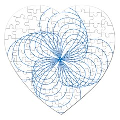 Spirograph Pattern Drawing Jigsaw Puzzle (heart)