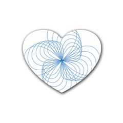 Spirograph Pattern Drawing Rubber Coaster (heart)