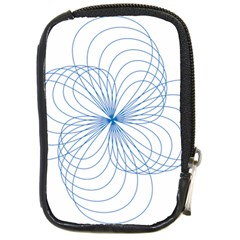 Spirograph Pattern Drawing Compact Camera Leather Case