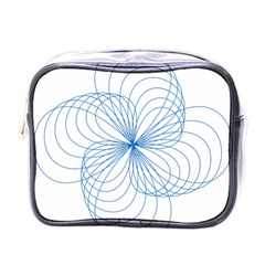 Spirograph Pattern Drawing Mini Toiletries Bag (one Side)