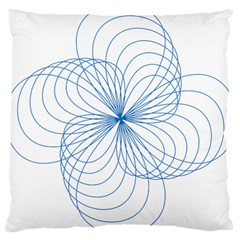 Spirograph Pattern Drawing Large Cushion Case (one Side) by Alisyart