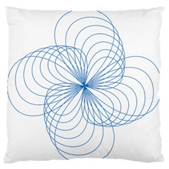 Spirograph Pattern Drawing Standard Flano Cushion Case (one Side) by Alisyart