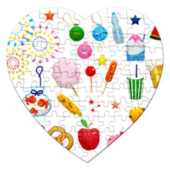 Summer Fair Food Goldfish Jigsaw Puzzle (heart)