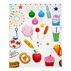 Summer Fair Food Goldfish Shower Curtain 60  X 72  (medium)