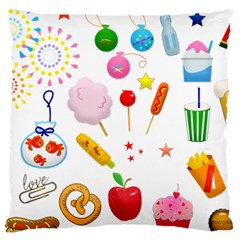 Summer Fair Food Goldfish Large Cushion Case (two Sides)