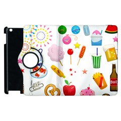 Summer Fair Food Goldfish Apple Ipad 2 Flip 360 Case by AnjaniArt
