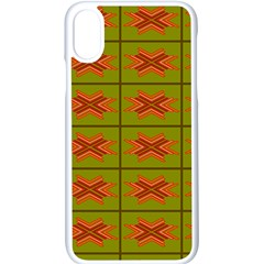 Western Pattern Backdrop Green Apple Iphone X Seamless Case (white) by Jojostore