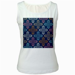 Wallpaper Abstract Art Women s White Tank Top