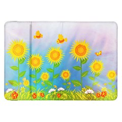 Sunflower Collage Summer Flowers Samsung Galaxy Tab 8 9  P7300 Flip Case
