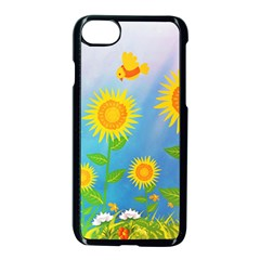 Sunflower Collage Summer Flowers Apple Iphone 7 Seamless Case (black) by Jojostore