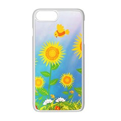 Sunflower Collage Summer Flowers Apple Iphone 8 Plus Seamless Case (white)
