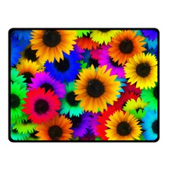 Sunflower Colorful Fleece Blanket (small)