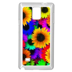 Sunflower Colorful Samsung Galaxy Note 4 Case (white)