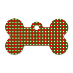 Lumberjack Plaid Buffalo Plaid Green Red Dog Tag Bone (one Side)