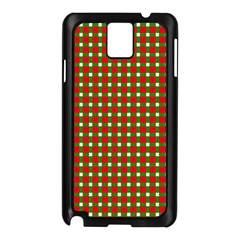 Lumberjack Plaid Buffalo Plaid Green Red Samsung Galaxy Note 3 N9005 Case (black) by Mariart