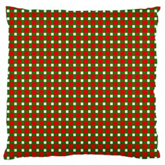 Lumberjack Plaid Buffalo Plaid Green Red Standard Flano Cushion Case (two Sides) by Mariart