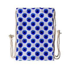 Sunflower Digital Paper Blue Drawstring Bag (small)
