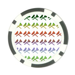 Yard Work Gardening Landscaping Poker Chip Card Guard (10 Pack)