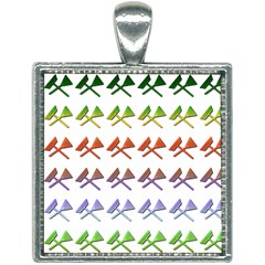 Yard Work Gardening Landscaping Square Necklace by Mariart