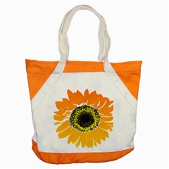 Sunflower Flower Yellow Orange Accent Tote Bag