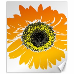 Sunflower Flower Yellow Orange Canvas 20  X 24