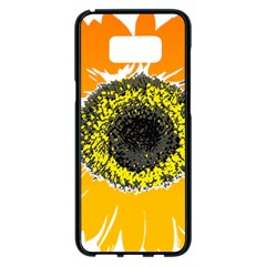 Sunflower Flower Yellow Orange Samsung Galaxy S8 Plus Black Seamless Case