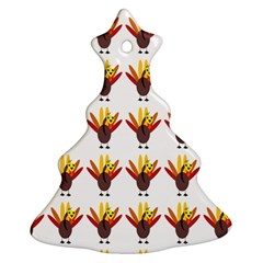 Turkey Thanksgiving Background Ornament (christmas Tree)