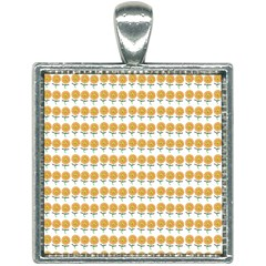 Sunflower Wrap Square Necklace by Mariart