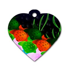 Pattern Fishes Escher Dog Tag Heart (two Sides)