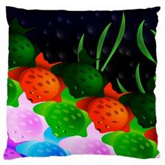 Pattern Fishes Escher Large Flano Cushion Case (one Side) by Mariart
