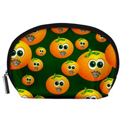 Seamless Orange Pattern Accessory Pouch (large)