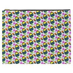 Sweet Dessert Food Cake Pattern Cosmetic Bag (xxxl) by AnjaniArt