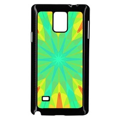 Kaleidoscope Mosaic Ornament Samsung Galaxy Note 4 Case (black) by AnjaniArt