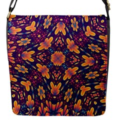 Kaleidoscope Background Design Purple Flap Closure Messenger Bag (s)