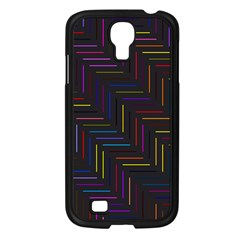 Lines Line Background Samsung Galaxy S4 I9500/ I9505 Case (black)