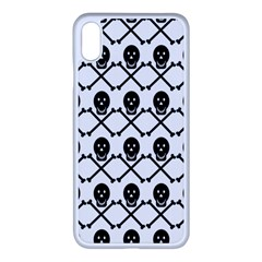 Skull Crossbones Pirate Backdrop Apple Iphone Xs Max Seamless Case (white)
