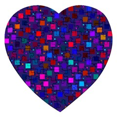 Squares Square Background Abstract Jigsaw Puzzle (heart) by Alisyart