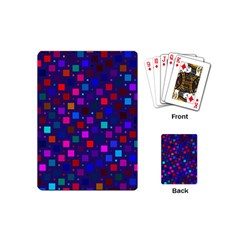 Squares Square Background Abstract Playing Cards (mini)