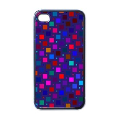 Squares Square Background Abstract Apple Iphone 4 Case (black)