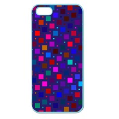 Squares Square Background Abstract Apple Seamless Iphone 5 Case (color)
