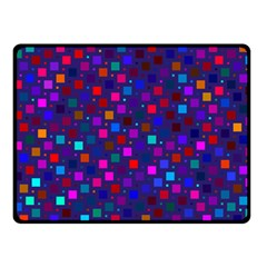 Squares Square Background Abstract Double Sided Fleece Blanket (small)