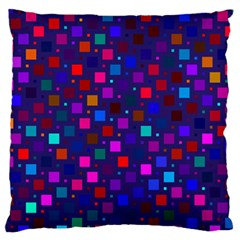 Squares Square Background Abstract Large Flano Cushion Case (one Side)