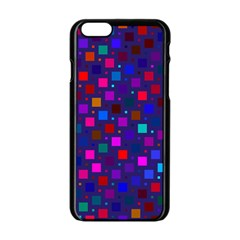 Squares Square Background Abstract Apple Iphone 6/6s Black Enamel Case